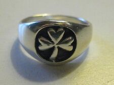 925 STERLING SILVER CELTIC IRELAND IRISH CLOVER RING SIZE 5-7 RINGS