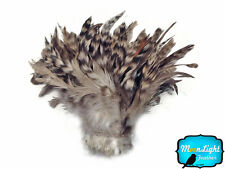1 Yard - GREY Chinchilla Strung Schlappen Rooster Wholesale Feathers (bulk)
