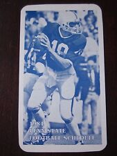 1984 Penn State Football Schedule Sked Doug Strang on Front Mellon Bank