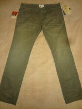 PRPS GOODS & CO. Washed Olive Distressed Chino Pants Men SLIM 36 x 34 Orig.$200+