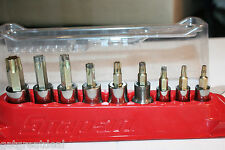 "SNAP-ON TOOLS 1/4""-3/8"" DRIVE TORX® Heavy Duty Removal Socket Driver SET T15-55"