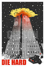 "Original ""Yipee-Ki-Yay"" Art Print Movie Poster Die Hard John McClane Hans Gruber"