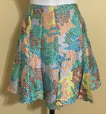 Twinkle By Wenlan Women's Multi-Color Silk Circle Skirt Size 6 NWT