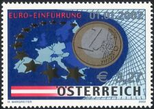 Austria 2002 Euro Currency/Coins/Money/Commerce/Business/Maps 1v (at1138)