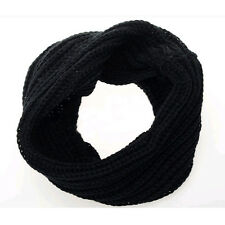 Women Men Winter Knitted Crochet Long Snood Tube Circle Scarf Shawl Neck Warmer