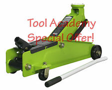 NEW RELEASE! TROLLEY JACK 3 TONNE HEAVY DUTY HYDRAULIC * HI VIS BRIGHT GREEN