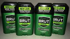 4 Count Lot of BRUT DEODORANT CLASSIC SCENT 24 Hour Protection FREE SHIPPING