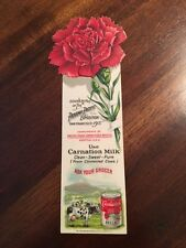 VINTAGE PANAMA PACIFIC EXPO SF 1915 CARNATION MILK BOOKMARK FREE SHIPPING!