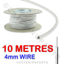 10m x 4mm HIGH TEMPERATURE WIRING FOR ELECTRIC OVEN HEAT TEMP RESISTANT WIRE