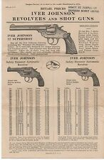 1927 Iver Johnson Revolvers & Shot Guns Advertising Brochure