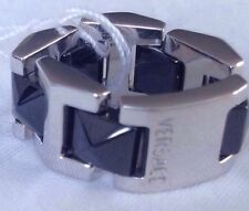 Versace 18k Ceramic Gold Ring Made In Italy Rare $5500 Retail!