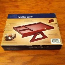 Wooden Sofa Arm Clip on Table Wood Chair Armrest Tray Organizer Remote Caddy