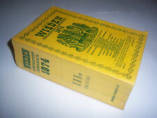 WISDEN CRICKETERS' ALMANACK 1974 - LINEN CLOTH SOFTBACK - CRICKET ANNUAL / BOOK