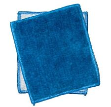 "Janey Lynn Designs Blue Jewel Shrubbies 5"" x 6"" Cotton & Nylon Washcloth"
