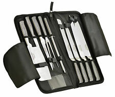 Ross Henery professional Stainess Steel 9 Piece Chefs Knife / Knives set in Case