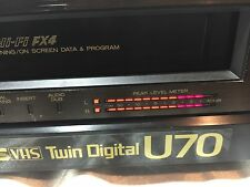 Mitsubishi HS-U70 Twin Digital SVHS VCR S-VHS Video Cassette Recorder