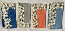Set of 4 Vintage Penneys Dogwood Cotton Handkerchiefs 2 with Labels