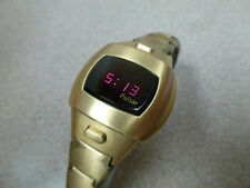 Vintage Working Ladies Pulsar LED Watch 14K Goldfilled Digital
