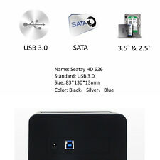 "External Storage Enclosure Case USB3.0 2.5/3.5"" SATA Hard Drive Disk Case"