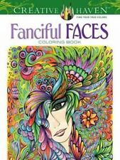 NEW Adult Coloring: Creative Haven Fanciful Faces Coloring Book by Miryam Adatto