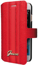 GENUINE GUESS HERITAGE COLLECTION BOOK CASE FOR IPHONE 7 PLUS COVER RED