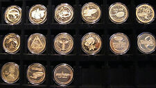 COMPLETE Star Trek LAS VEGAS CONVENTION GOLD 15 COIN Set ~ Creation