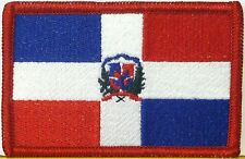 REPUBLICA DOMINICANA Flag Patch With VELCRO® Brand Fastener Military Emblem #24