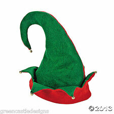 Elf Hat Bells Christmas Holiday Costume Red Green  Party Accessory Photo Prop