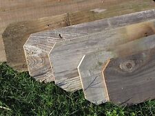 "Reclaimed Old Fence Wood Boards W Ears  1 Board 18"" Weathered Barn Wood Planks"
