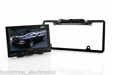 US Version Waterproof Car License Plate Frame Rearview Camera 8 LED Night Vision