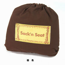 KisKise Sack'N Seat Baby Child Portable High Chair Seat Cover brown