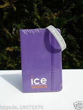 �� Bloc Note Neuf Ice Watch Couleur Violet Vendu  Avec Un Bracelet Gris