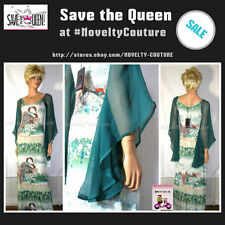 $510 New SAVE THE QUEEN Long Maxi Party Dress, S (small) / UK 6-8 / T36-38