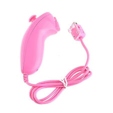Pink Nunchuck Nunchuk Game Controller Remote Joystick For Nintendo Wii Console