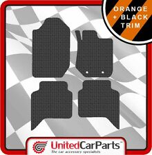 FORD RANGER WILDTRAX (2012-ON) RUBBER CAR MATS AND ORANGE TRIM GENUINE UCP 3042