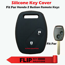 Silicone Car Key Cover for Honda City, Civic, Amaze, Jazz & Brio 2 Button keys