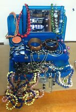 Vintage Retro Mixed Lot Caboodles Tiered Box Mirror Jewelry Lot 40 Necklaces
