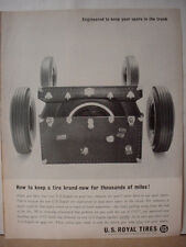 1963 US Royal Tire Keep Spare in your Trunk Vintage Print Ad10364