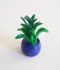 PLAYMOBIL (R610) MAISON MODERNE - Plante d'Intérieur dans Pot Bac Bleu