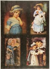 Rice Paper for Decoupage Decopatch Scrapbook Craft Sheet Painted Girls