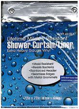 Heavy Duty Antibacterial Mildew Resistant Vinyl Bath Tub Shower Curtain Liner