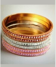 6 New Chamak / Priya KAKKAR Pink Red White Crystal Bling Bangle Bracelet
