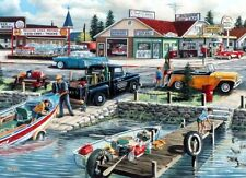 "Lakefront Treasury By Ken Zylla Fishing Lake Print   11"" x 8"""