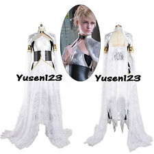 Kingsglaive Final Fantasy XV Luna Freya Cosplay Costume Comic Con White Dress
