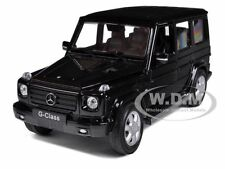 MERCEDES G WAGON CLASS BLACK 1:24 DIECAST MODEL CAR BY WELLY 24012