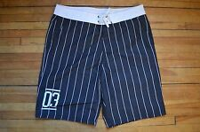 H&M DIVIDED BLACK & WHITE TRIPED SWIM BOARD SURF SHORTS S MEDIUM BERMUDA SPORTS