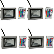 4X 10W LED RGB Memory Flood Light Outdoor Landscape Lamp w/ Remote Control