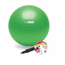 NEW! The Firm Slim & Sculpt Stability Ball w/ DVD, Yoga Ball - Green 65cm