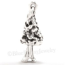 3D REDWOOD SEQUOIA TREE California Forest 925 Sterling Silver Pendant Charm