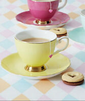 Bombay Duck Miss Evelyn, Teacup & Saucer in Yellow, Tea Cup / Party